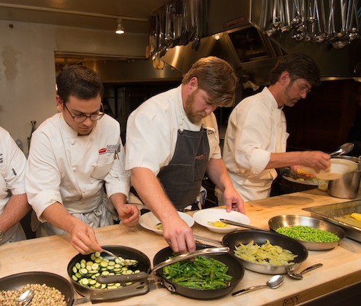 Rob McDaniel and Chris Hastings in the Beard House kitchen